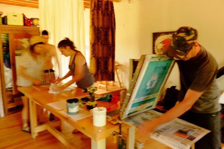 taller serigrafia mediación artistica
